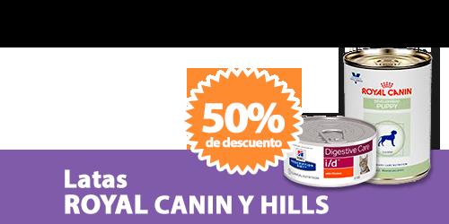 Descuentos en productos Royal Canin y Hills